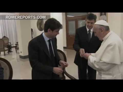 Pope meets with players of 'Juventus ' Italy's Soccer Champions