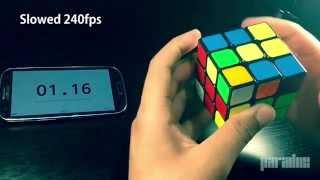 getlinkyoutube.com-Slow Motion Rubik's Cube Solve [240fps iPhone 6]