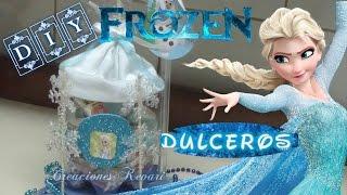 getlinkyoutube.com-Dulcero de Frozen con material reciclado botellas Plasticas/ Frozen's Elsa Candy Bag