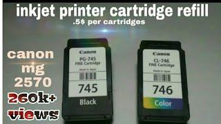 getlinkyoutube.com-Canon pixma mg 2570 cartridges refill , any inkjet printer cartridge refill without refill kit.