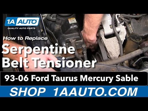 How To Install Replace Serpentine Belt Tensioner Ford Taurus Mercury Sable V6 93-06 1AAuto.com