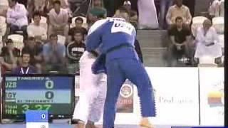 getlinkyoutube.com-Judo 2009 Abu Dhabi: Abdullo Tangriev (UZB) - Islam El Shehaby (EGY) [+100kg] final