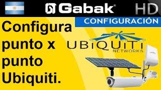 configuracion basica de un punto a punto con Ubiquiti (o multipunto) wireless - inalambrico