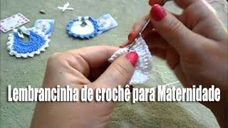 getlinkyoutube.com-Lembrancinha de Maternidade - passo a passo - de crochê - Simone Eleoterio