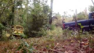 getlinkyoutube.com-Giving it Hell Chevy Silverado Almost pulls Caterpillar Dozer out