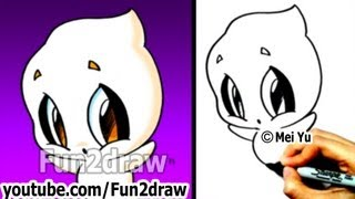 getlinkyoutube.com-How to Draw Halloween Stuff - How to Draw a Ghost EASY - Drawing Step by Step - Fun2draw