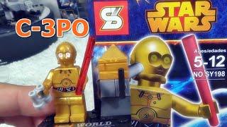 getlinkyoutube.com-sy C-3PO 스타워즈 레고 짝퉁 미니 피규어 드로이 로봇 조립기
