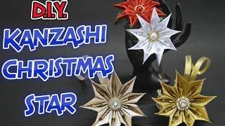 getlinkyoutube.com-D.I.Y. Kanzashi Christmas Star | MyInDulzens