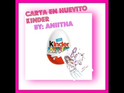 carta en huevo kinder