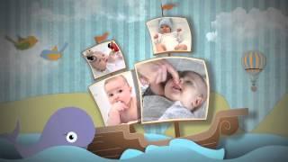 getlinkyoutube.com-Birth Announcement - Baby Photo Album