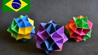 getlinkyoutube.com-Origami: Spike Ball - Instruções em português PT BR