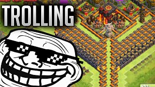 getlinkyoutube.com-Clash of Clans - BEST NOOB TROLLING BASE (Hilarious FAIL Replays)  - Funnel of Doom 2.0