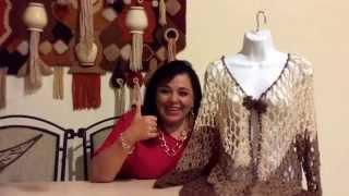 getlinkyoutube.com-TEJE AMERICANA DE PICO - Crochet fácil y rápido - Yo Tejo con LAURA CEPEDA