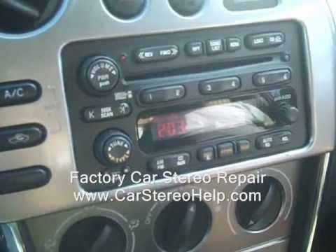 Pontiac Vibe Car Stereo Removal and Repair 2003-2008