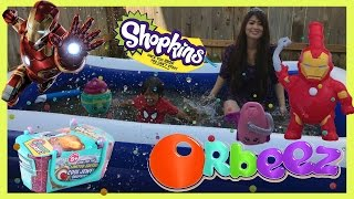 getlinkyoutube.com-ORBEEZ POOL PARTY EGG SURPRISE TOYS in 1,000,000 ORBEEZ Shopkins Balloon Water fight Ryan ToysReview