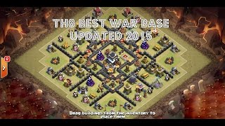 Clash of Clans | Town Hall Level 8 Best War/Trophy Base (v2.0) | 2015