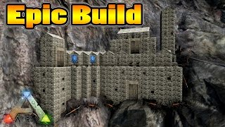 getlinkyoutube.com-Ark Survival Evolved - Epic Cliff Base Build