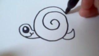 How to draw a Cartoon Snail