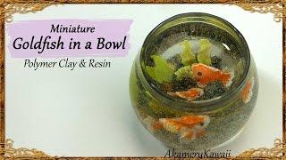 getlinkyoutube.com-Miniature Goldfish Bowl - Polymer Clay & Resin Tutorial