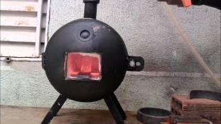 getlinkyoutube.com-Faca campeira artesanal para testar forja e bigorna