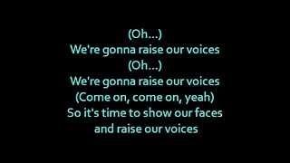 """getlinkyoutube.com-Barbie movie song: """"Raise our voices"""" lyrics on screen"""