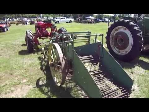 Old Time Potato Digger and Tractor