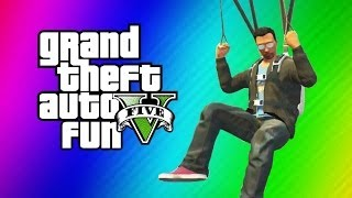 getlinkyoutube.com-GTA 5 Online Funny Moments Gameplay - Secret IAA Building, Parachute Fails (Hidden Office Fun!)