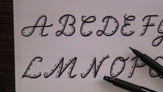 getlinkyoutube.com-cursive fancy letters - how to write cursive fancy letters for beginners