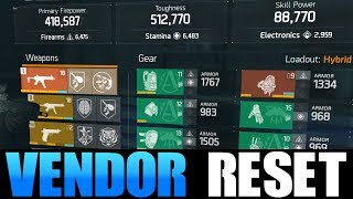 THE DIVISION - VENDOR RESET | GOD ROLL WEAPONS, GEAR & GEAR MODS! (YOU NEED TO BUY)