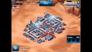 getlinkyoutube.com-Star Wars: Commander - Strongest Lvl 5 HQ Base Design (v2) Attacked