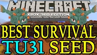 getlinkyoutube.com-Minecraft ( Xbox 360 / PS3 ) BEST Survival Seed TU31 - Mesa Biome & Ocean Monument with NPC Village