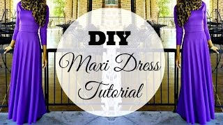 Nadira037 | DIY | How to Make a Maxi Dress | Circle Skirt