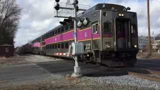 getlinkyoutube.com-MBTA Trains & Lake Shore Limited in Ashland, MA