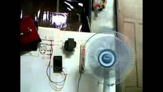 getlinkyoutube.com-My homemade Low RPM Generator Powered Desk Fan (pembangkit listrik rumah)