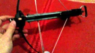 getlinkyoutube.com-Pistol Crossbow shooting 6mm steel pellets