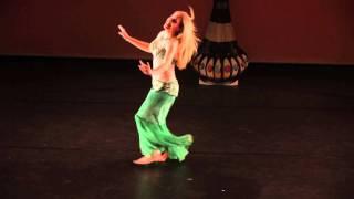 getlinkyoutube.com-Efrat dancing at 3rd Annual Sahara Raks in Houston TX