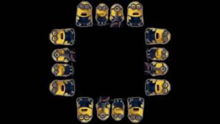 getlinkyoutube.com-Minions Banana Song   Screen Up Pyramid Hologram Holographic 3D 4K