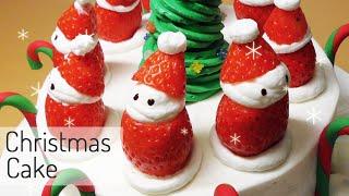 getlinkyoutube.com-크리스마스 케이크 (달려라치킨 콜라보)How to make a Christmas cake