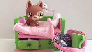 getlinkyoutube.com-DIY LPS Bed / Doll Bed