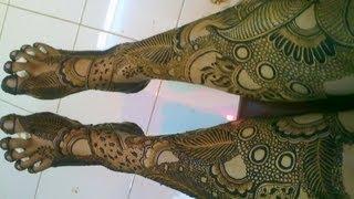getlinkyoutube.com-How to make Henna design | INDIAN PAKISTANI BRIDAL wedding HENNA FOR FULL FEET