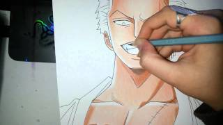 getlinkyoutube.com-Speed Drawing - Roronoa Zoro (One Piece)