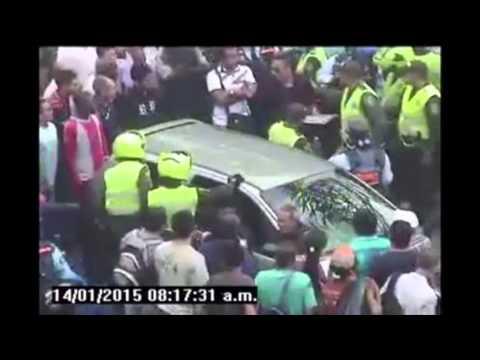 Conductora ebria arrolló a guarda de tránsito en el Centro de Medellín