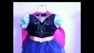 "getlinkyoutube.com-DIY. Disfraz de Princesa Anna. Frozen para niña + patrones. ""Capa""."