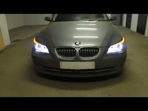 BMW ... LED габариты и ходовые огни.Halogen