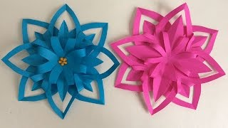 getlinkyoutube.com-FLORES DE PAPEL. MANUALIDADES DE PAPEL.  Paper flower.
