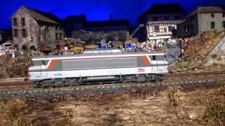 getlinkyoutube.com-Trains Miniatures - L.S.Models 10203 - HO - Locomotive BB 107292 - SNCF multiservice - DIGITAL SOUND