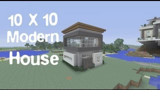 getlinkyoutube.com-Minecraft 10 x 10 Modern House Tutorial