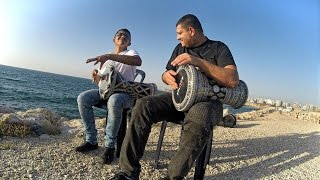 getlinkyoutube.com-Playing Darbuka on the Beach