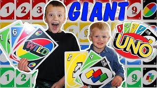 World's Largest UNO Cards!  ||  Family Game Night