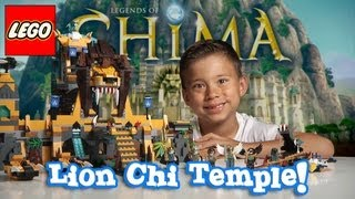 getlinkyoutube.com-LION CHI TEMPLE - LEGO Legends of Chima Set 70010 Time-lapse Build, Unboxing & Review by EvanTubeHD